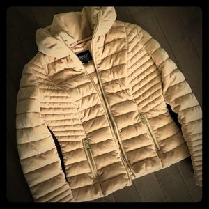 Guess powder pink puffer jacket